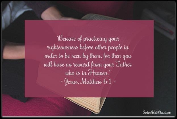 Matthew 6-1